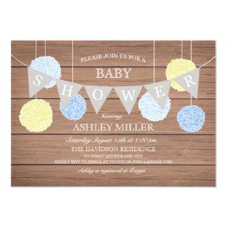 Blue Flags n Fluffs - Baby Shower Invitation