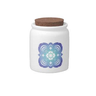 Blue Flake I Candy Jars