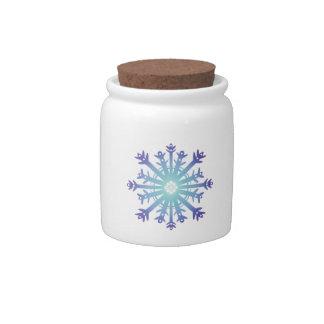 Blue Flake II Candy Jar