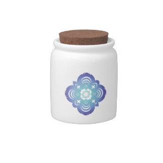 Blue Flake III Candy Jar