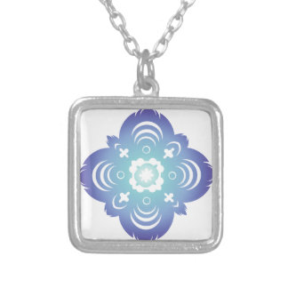 Blue Flake III Personalized Necklace