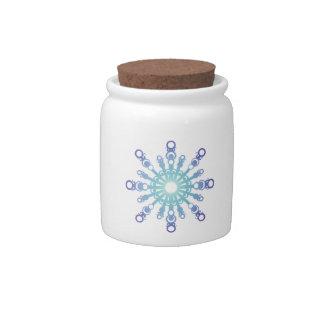 Blue Flake IV Candy Jars