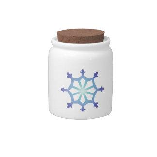 Blue Flake IX Candy Jar