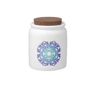 Blue Flake VI Candy Jars
