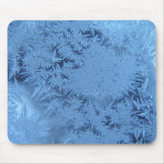 Blue Flakes Mouse Pad