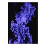 Blue flame 5x7 paper invitation card