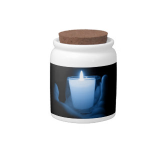 Blue Flame Candy Jar
