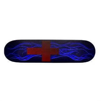 Blue Flame Cross Board