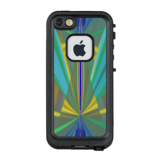 Blue Flame - Exciting Abstract with Your Text LifeProof FRĒ iPhone SE/5/5s Case