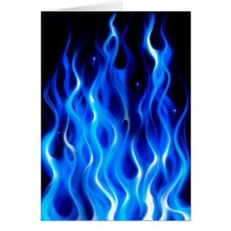 Blue Flame Greeting Cards