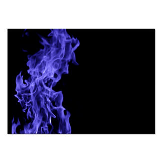 Blue flame large business card