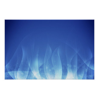 Blue Flame Poster