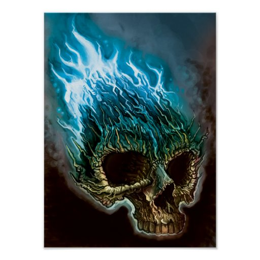blue flames skull flame - photo #41