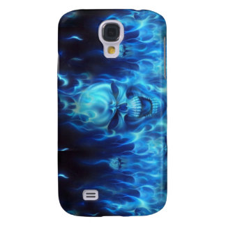 Blue Flame skull Samsung Galaxy S4 Cover