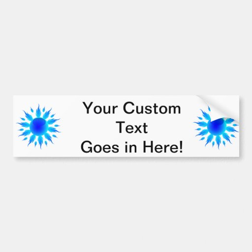 blue flame sun graphic.png car bumper sticker
