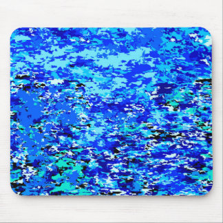 Blue Flames Background Mouse Pad