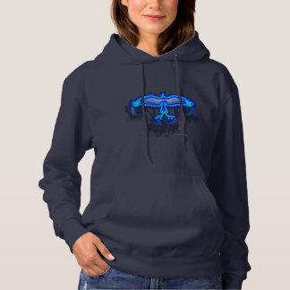 Blue Flames Ladies Hoodie