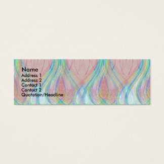 Blue Flames Mini Business Card