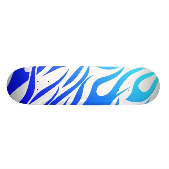 blue flames skateboard deck