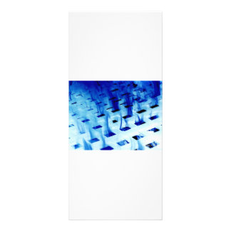 Blue flames through white grid design photo personalized rack card