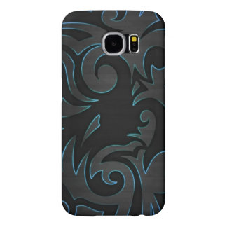 blue flames tribal samsung galaxy s6 cases