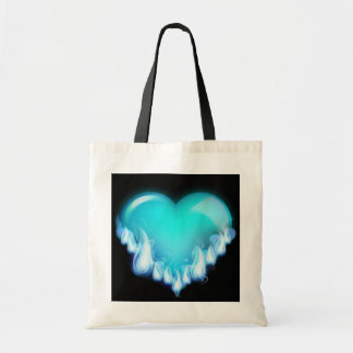 Blue-flaming-heart png love icecold icy tough bag