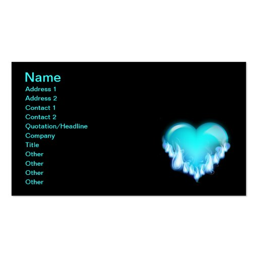 Blue-flaming-heart.png love icecold icy tough business card
