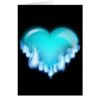 Blue-flaming-heart png love icecold icy tough greeting card