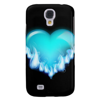 Blue-flaming-heart png love icecold icy tough samsung galaxy s4 case