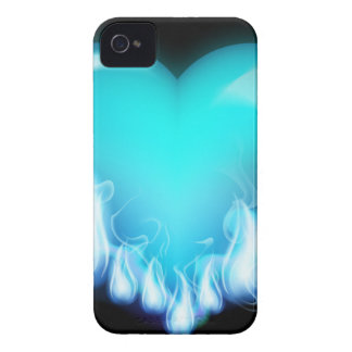 Blue-flaming-heart png love icecold icy tough blackberry bold cases