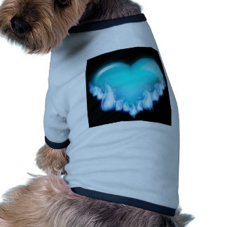 Blue-flaming-heart png love icecold icy tough doggie shirt