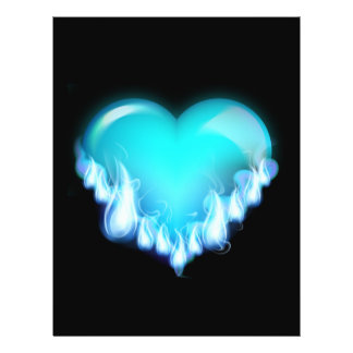 Blue-flaming-heart png love icecold icy tough personalized flyer