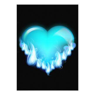 Blue-flaming-heart png love icecold icy tough invite