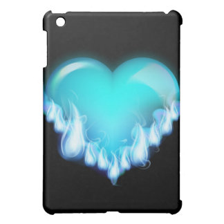 Blue-flaming-heart png love icecold icy tough iPad mini cover