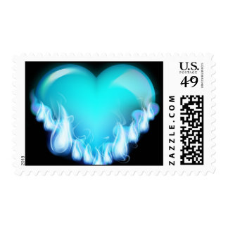 Blue-flaming-heart png love icecold icy tough stamps
