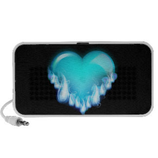 Blue-flaming-heart png love icecold icy tough iPhone speaker
