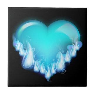 Blue-flaming-heart png love icecold icy tough ceramic tiles