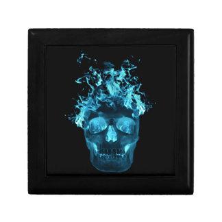 Blue Flaming Skull Gift Box