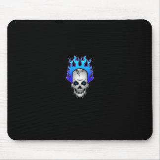 blue-flaming-skull-mousepad mouse pad