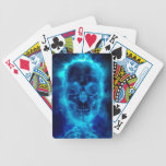 Blue Flaming Skull Playing Cards