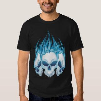 Blue Flaming Skulls Shirt