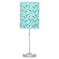 Blue Flamingo Table Lamp