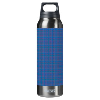 blue flannel thermos water bottle