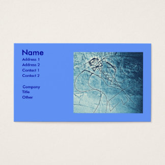 BLUE FLAP CHIEF BUSINESS CARD