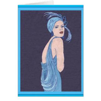 Blue Flapper Card