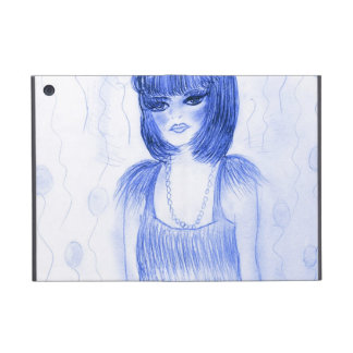 Blue Flapper Party Girl Cover For iPad Mini