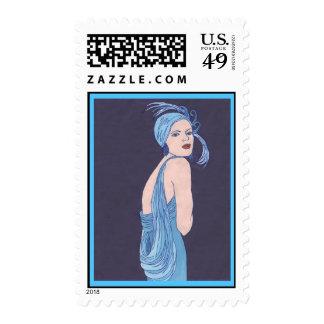 Blue Flapper Stamp