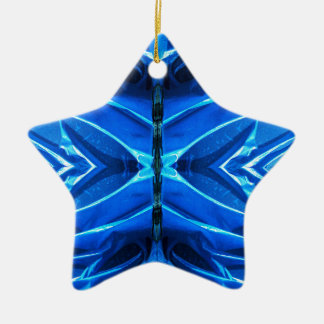 Blue Flare Fins Ceramic Ornament