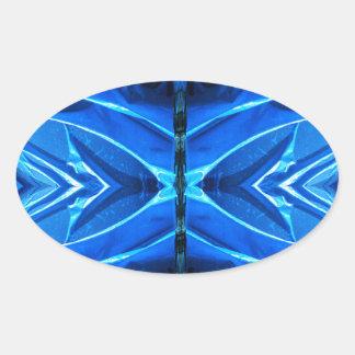 Blue Flare Fins Oval Sticker
