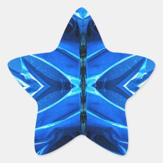 Blue Flare Fins Star Sticker